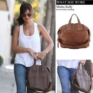 Givenchy Nightingale Large Leather Shoulder Bag